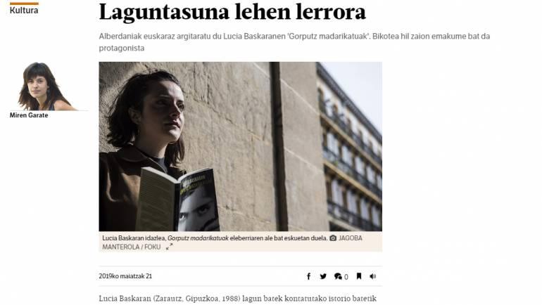 Lucía Baskaran eta Gorputz Madarikatuak BERRIAn