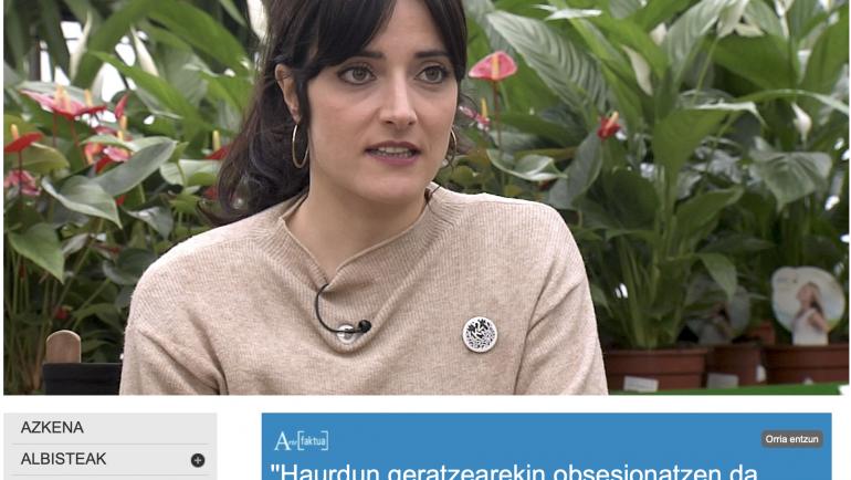 """Lucia Baskaran: """"Haurdun geratzearekin obsesionatzen da, hildakoa bizitzara ekarriko duelakoan"""""""