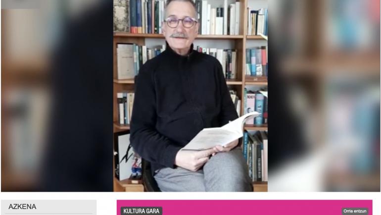Jorge Gimenez Bench editoreak Xabier Leteren poema baten irakurketa eskaini du