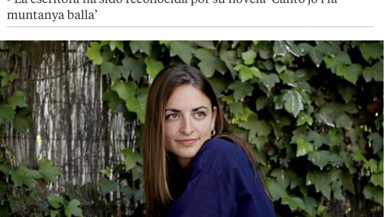 """Irene Solák 2020ko Europar Batasuneko Literatura saria irabazi du """"Canto jo i la muntanya balla"""" liburuarekin!"""