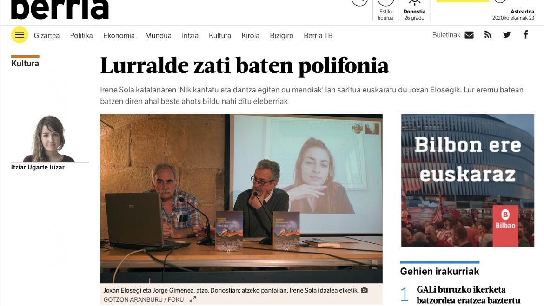 Berria: Lurralde zati baten polifonia